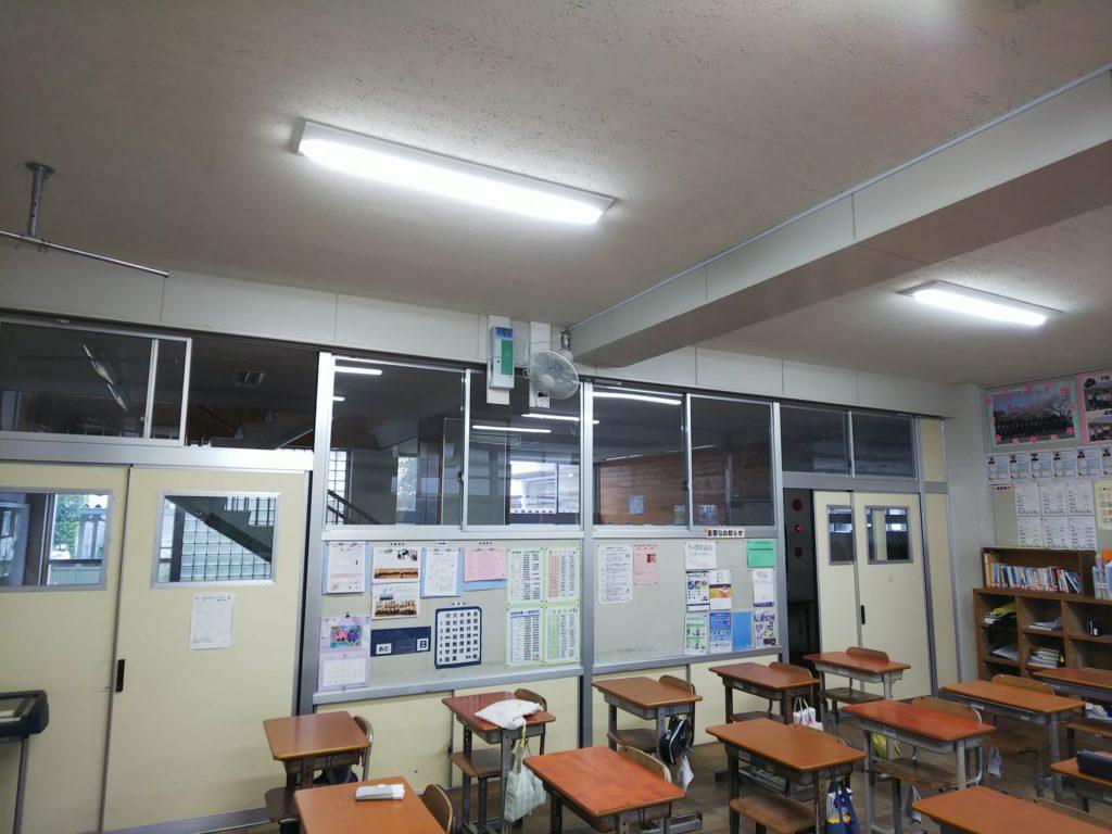 教室内にプロカスタムを設置