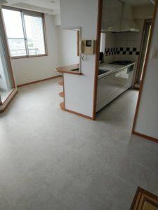 マンションの床の張替え