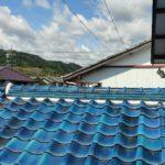 住宅の瓦屋根、漆喰工事
