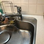 住宅のキッチン水栓交換工事